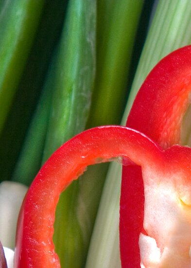 Pepper Abstract2 by Orla Cahill Photography