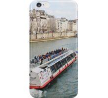 River Seine excursion boat, Paris iPhone Case/Skin