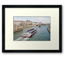 River Seine excursion boat, Paris Framed Print