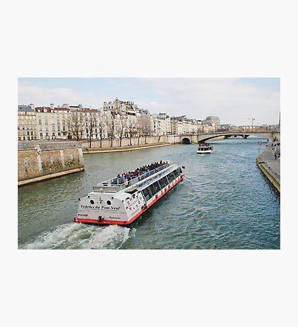 River Seine excursion boat, Paris Photographic Print
