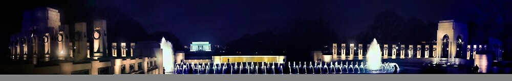 Washington at Night - World War II Memorial by thegforcers