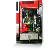 Fire Fighting Gear Greeting Card