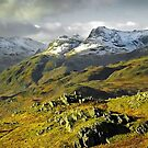 The Langdales from Loughrigg Fell, Cumbria by Steve  Liptrot