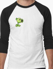 Peashooter Plants Versus Zombies Men's Baseball ¾ T-Shirt