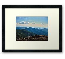 Blue Ridge Mountain - Outlook Framed Print