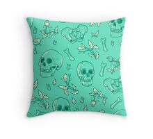 Bones and Leaves Throw Pillow