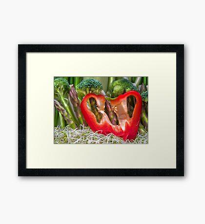 Vegetable Landscape Framed Print