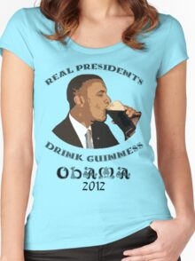 Real Presidents Drink Guinness - Obama 2012 Women's Fitted Scoop T-Shirt