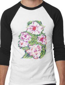 Flower T-shirt 2 Men's Baseball ¾ T-Shirt
