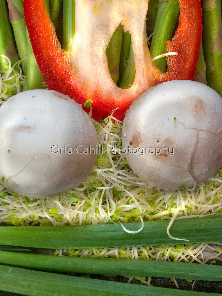 Fun Vegetable Landscape by Orla Cahill Photography