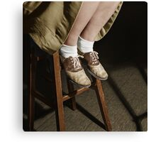 1943 Oct Washington, D.C. Saddle shoes are still popular at Woodrow Wilson High School Canvas Print