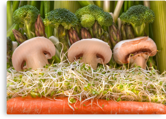 Fun Vegetable Landscape no.4 by Orla Cahill Photography