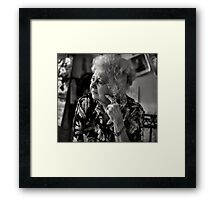 Deep within the corners of my mind... Framed Print