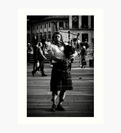 Scottish man Art Print