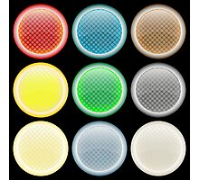 Colored glossy web buttons Photographic Print