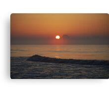 sun rise at the beach Canvas Print