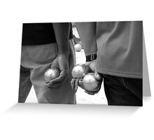 Holding Their Own. Cannes. France Greeting Card