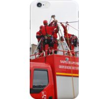 Paris firefighters training iPhone Case/Skin
