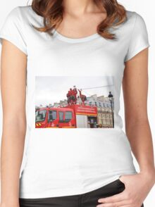 Paris firefighters training Women's Fitted Scoop T-Shirt