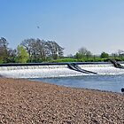 Weir on the River Dove near Tutbury by Rod Johnson