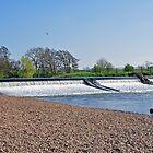 Weir on the River Dove near Tutbury by Rod Johnson