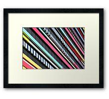 Multicolor façade Framed Print