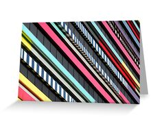 Multicolor façade Greeting Card