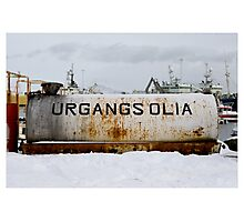 Waste Oil, Akranes Harbour (Iceland) Photographic Print