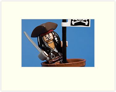 Lego Captain Jack Sparrow by Kevin  Poulton - aka 'Sad Old Biker'