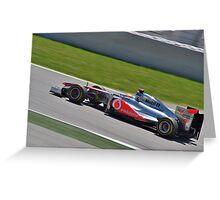 F1 GP España 2011 - Hamilton Greeting Card