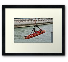 Grimp Firefighters,Paris Framed Print