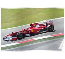 F1 GP España 2011 - Alonso (1) Poster