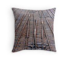 Train Tracks Throw Pillow