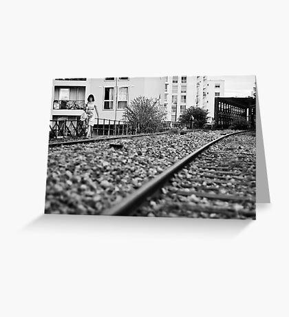 Railway girl Greeting Card
