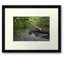 Japanese Bamboo Water Fountain Framed Print
