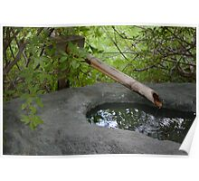 Japanese Bamboo Water Fountain Poster
