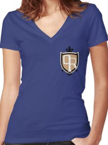 Ouran High School Crest Women's Fitted V-Neck T-Shirt