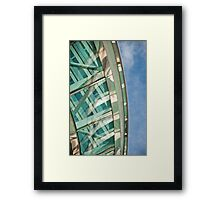 Abstract on Blue Framed Print
