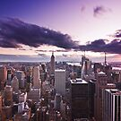 Purple New York by Dominic Kamp
