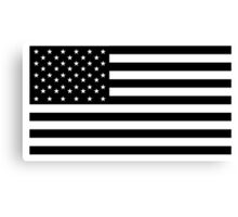 American Flag, STARS & STRIPES, USA, America, Black on white Canvas Print