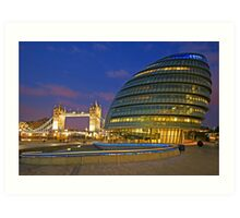 London Old and New Architecture Art Print