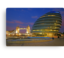 London Old and New Architecture Canvas Print