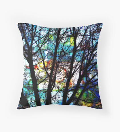 Friday Night on the Town Throw Pillow