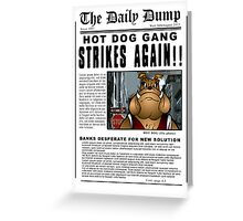 The Daily Dump Newspaper Greeting Card