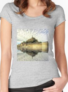 Mont St Michel Women's Fitted Scoop T-Shirt