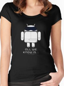 British Racing Droid (text) Women's Fitted Scoop T-Shirt