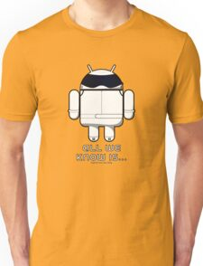 British Racing Droid (text) Unisex T-Shirt