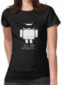 British Racing Droid (text) Womens Fitted T-Shirt