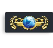 Global Elite Emblem Canvas Print