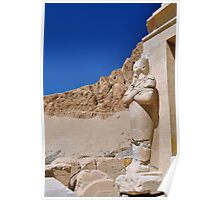 statue and blue skies.. Poster